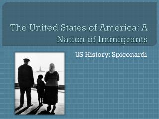 The United States of America: A Nation of Immigrants