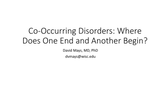 Strategies for Working  with Clients with  Co-Occurring Disorders