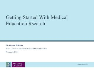 Getting Started With Medical Education  Rsearch