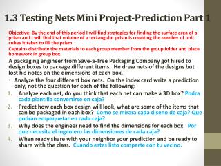 1.3 Testing Nets Mini Project-Prediction Part 1