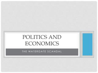 Politics and economics