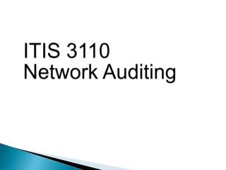 ITIS 3110 Network Auditing