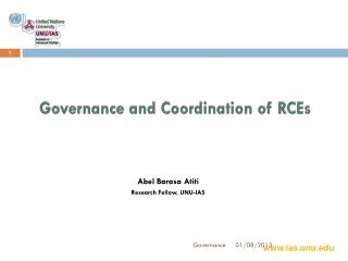 Governance and Coordination of RCEs
