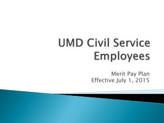 UMD Civil Service Employees