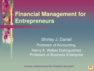 Financial Management for Entrepreneurs