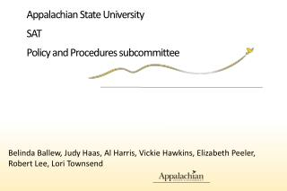 Appalachian State University SAT  Policy and Procedures subcommittee