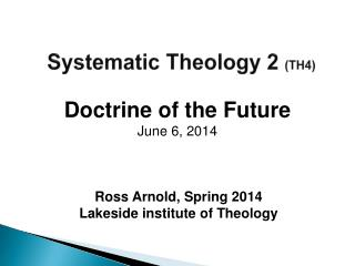 Systematic Theology 2  (TH4)