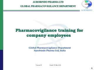 Pharmacovigilance training for company employees