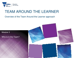 TEAM AROUND THE LEARNER Overview of the Team Around the Learner approach