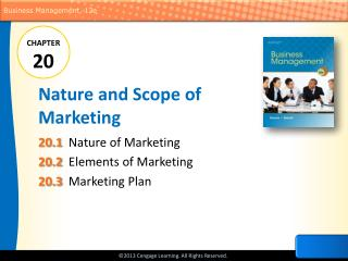 Nature and Scope of Marketing
