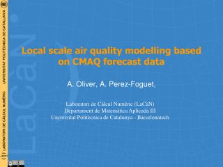 Local scale air quality  modelling  based on CMAQ forecast data