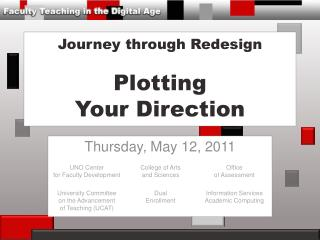 Journey through Redesign Plotting Your Direction