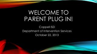 Welcome to  Parent Plug In!
