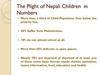 The Plight of Nepali Children in Numbers