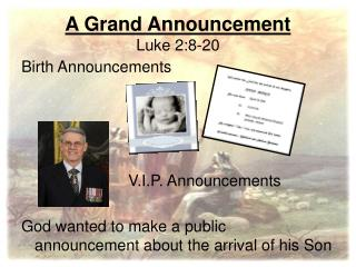 A Grand Announcement Luke 2:8-20