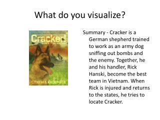What do you visualize?