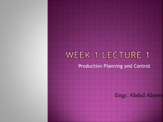 Week 1 Lecture 1