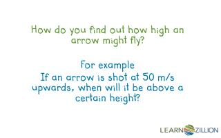 How do you find out how high an arrow might fly? For example