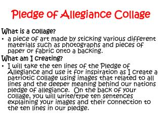 Pledge of Allegiance Collage