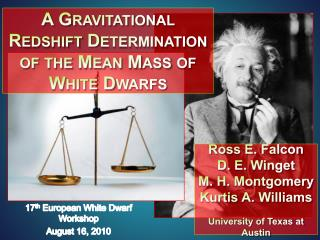 A Gravitational  Redshift  Determination of the Mean Mass of White Dwarfs
