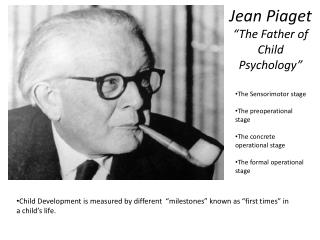 "Jean Piaget ""The Father of Child Psychology"""
