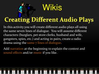 Creating  Different Audio Plays