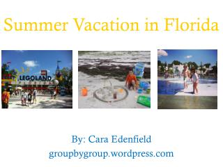 Summer  Vacation in  Florida