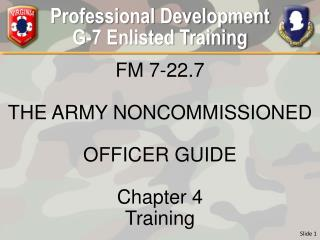 Professional Development G-7 Enlisted Training
