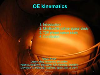 QE kinematics