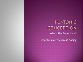 Platonic Conception