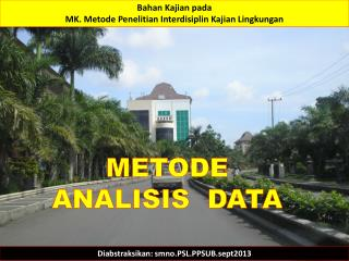 METODE ANALISIS  DATA