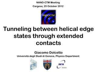 Tunneling between helical edge states through extended contacts