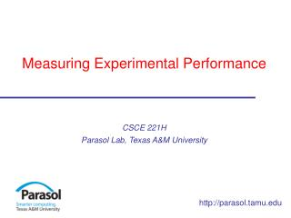 Measuring Experimental Performance