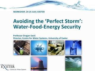 Avoiding the 'Perfect Storm': Water-Food-Energy Security