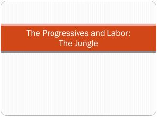 The Progressives and Labor:  The Jungle