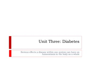 Unit Three: Diabetes