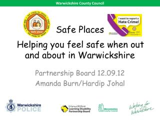 Safe Places Helping you feel safe when out and about in Warwickshire