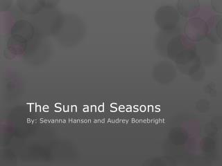 The Sun and Seasons