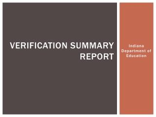 Verification Summary Report