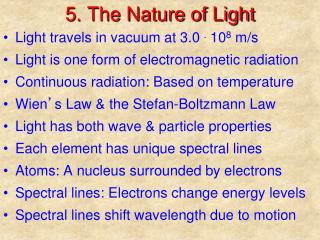 5. The Nature of Light