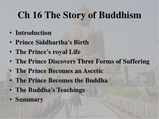 Ch 16 The Story of Buddhism