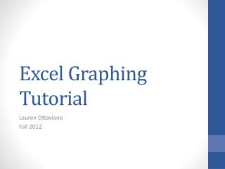 Excel Graphing Tutorial