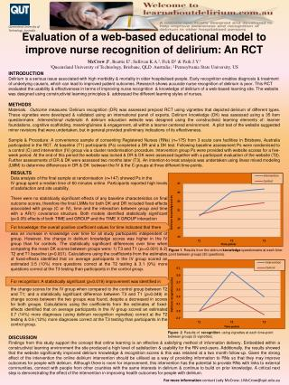 Evaluation of a web-based educational model to improve nurse recognition of delirium: An RCT