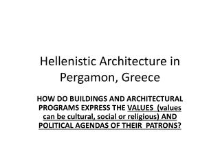 Hellenistic Architecture in  Pergamon , Greece