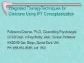 Integrated TherapyTechniques for Clinicians Using IPT Conceptualization