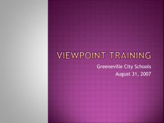 Viewpoint Training
