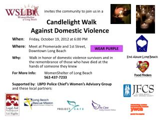 Candlelight Walk Against Domestic Violence