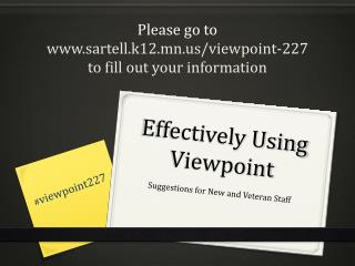 Effectively Using Viewpoint