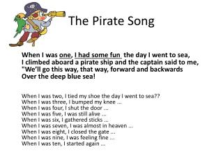 The Pirate Song