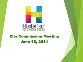 City Commission Meeting June 16, 2014